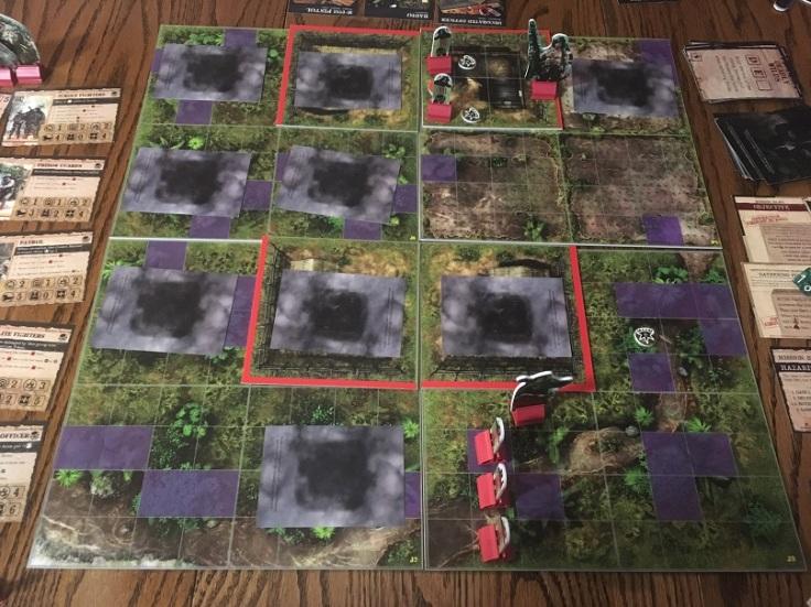 Rambo The Board Game Board Setup