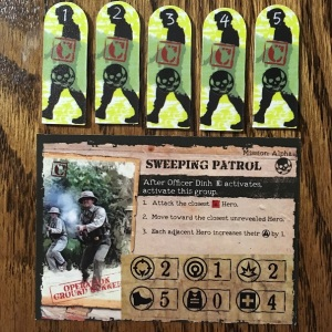 Rambo The Board Game Enemy Card