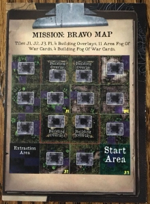 Rambo The Board Game Map Card