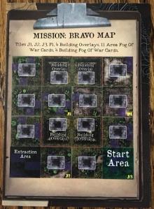 Rambo The Board Game Map Card