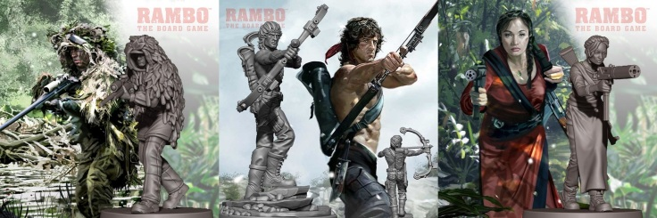 Rambo The Board Game Minis