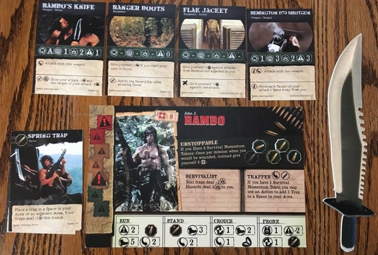 Rambo The Board Game Player Mat