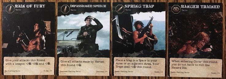 Rambo The Board Game Tactic Cards