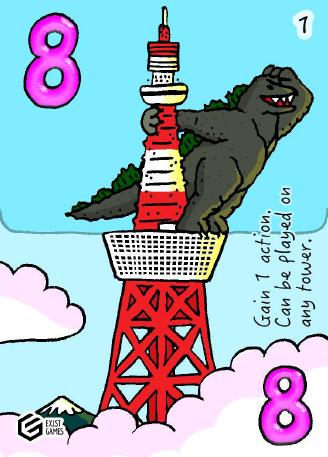 Sky Towers Godzilla Card